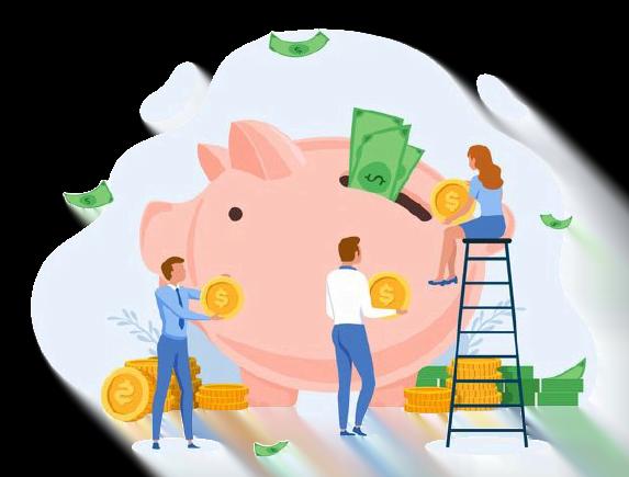 imagen de concepto de ahorro de dinero
