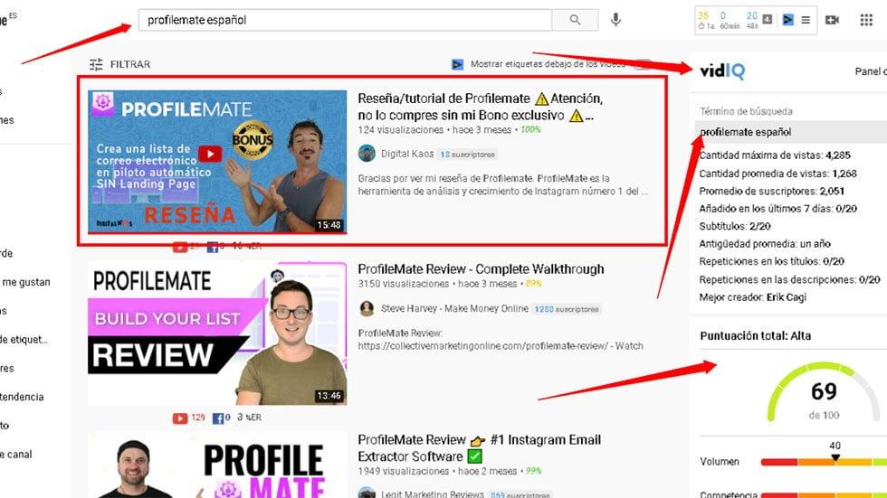 Palabras clave YouTube para aparecer en las primeras posiciones