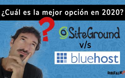 SiteGround v/s Bluehost – ¿Cuál es la mejor opción en 2020?